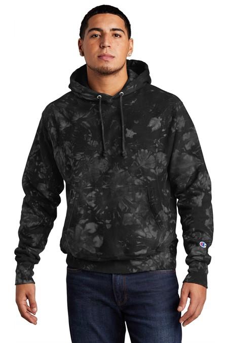 Champion  Reverse Weave  Scrunch-Dye Tie-Dye Hooded Sweatshirt. TDS101