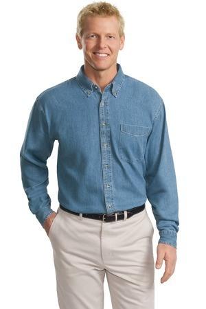 Port Authority Tall Long Sleeve Denim Shirt. TLS600