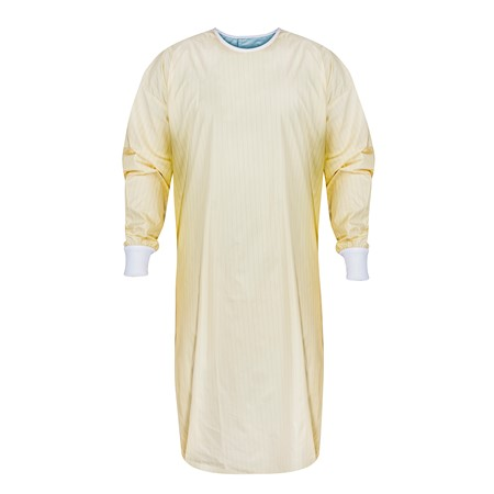 Reusable Isolation Gown with Carbon Fiber - Level 1, Level 2 Fabric (Case of 72)