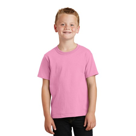 PINK Promo - Port and Company - Youth 5.4-oz 100% Cotton T-Shirt. PC54Y
