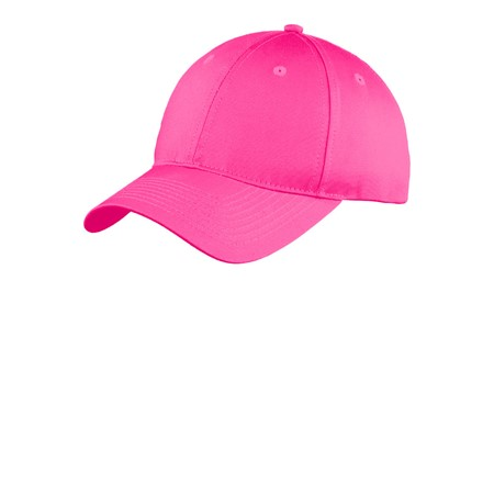 PINK Promo - Port and Company Youth Six-Panel UnstructuredTwill Cap. YC914