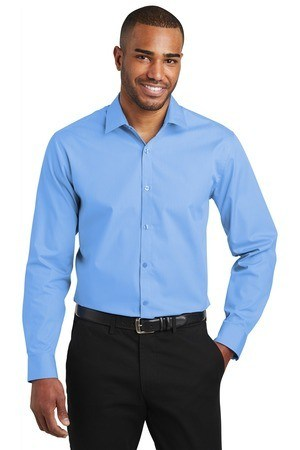 Port Authority  Slim Fit Carefree Poplin Shirt. W103
