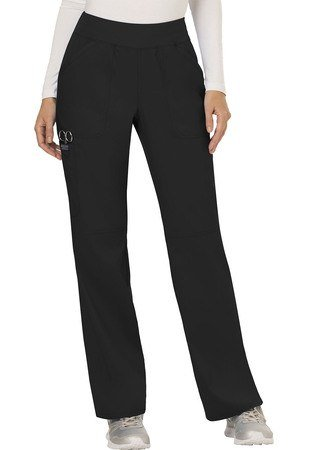 Cherokee Workwear Revolution Mid Rise Straight Leg Pull-on Pant Petite WW110P