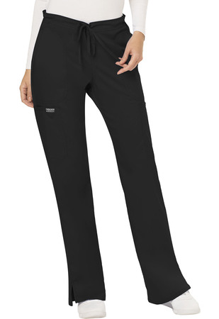 Cherokee Workwear Revolution Mid Rise Moderate Flare Drawstring Petite Pant WW120P