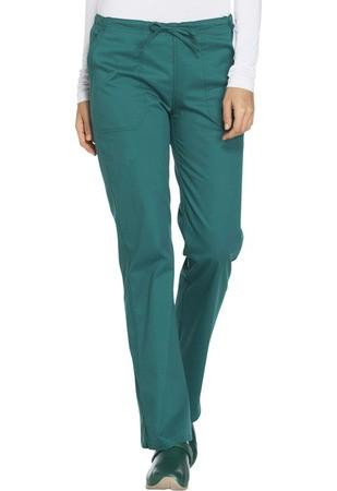 Cherokee Workwear Mid Rise Straight Leg Drawstring Pant WW130T