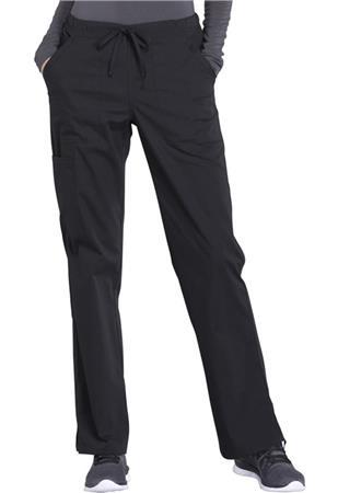 Cherokee Workwear Mid Rise Straight Leg Drawstring Pant WW160P