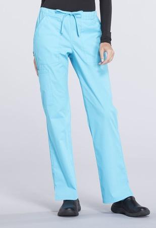 Cherokee Workwear Mid Rise Straight Leg Drawstring Pant WW160
