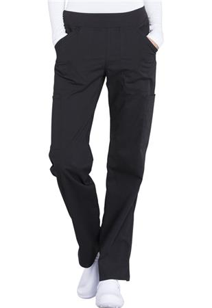 Mid Rise Straight Leg Pull-on Cargo Petite Pant WW170P