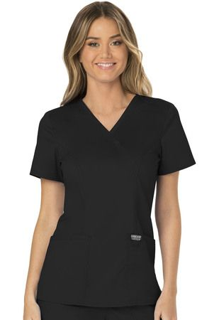 Cherokee Workwear Revolution Mock Wrap Top WW610