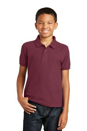 Port Authority  Youth Core Classic Pique Polo. Y100