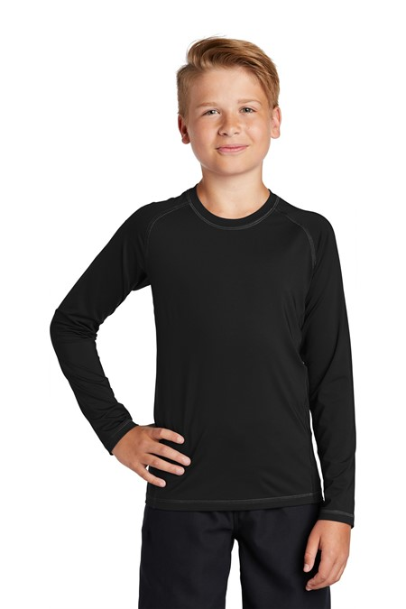 Sport-Tek Youth Long Sleeve Rashguard Tee YST470LS