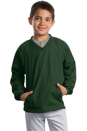 Sport-Tek - Youth V-Neck Raglan Wind Shirt. YST72