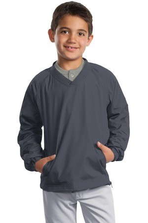Sport-Tek - Youth V-Neck Raglan Wind Shirt. YST72