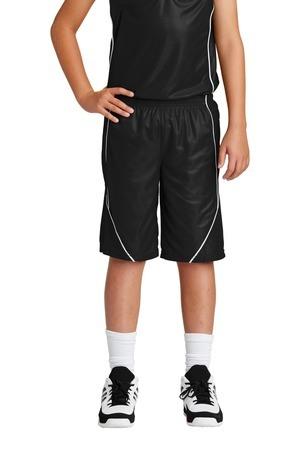 Sport-Tek Youth PosiCharge Mesh Reversible Spliced Short. YT565