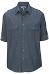Men's Chambray Roll Up Sleeve Shirt 1298