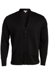V-Neck Button Heavyweight Acrylic Sweater 383