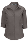 No-Iron Pinpoint Dress Shirt 3-4 Sleeve - Ladies 5976