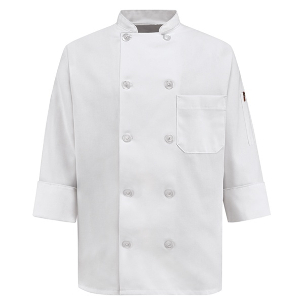Women's Ten Pearl Button Chef Coat 0401WH