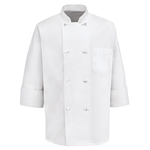 Eight Knot Button Chef Coat 0411WH