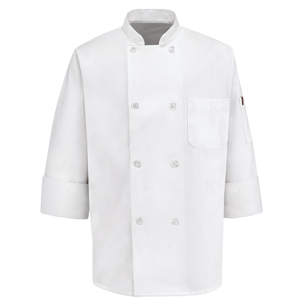 Eight Pearl Button Chef Coat 0413WH