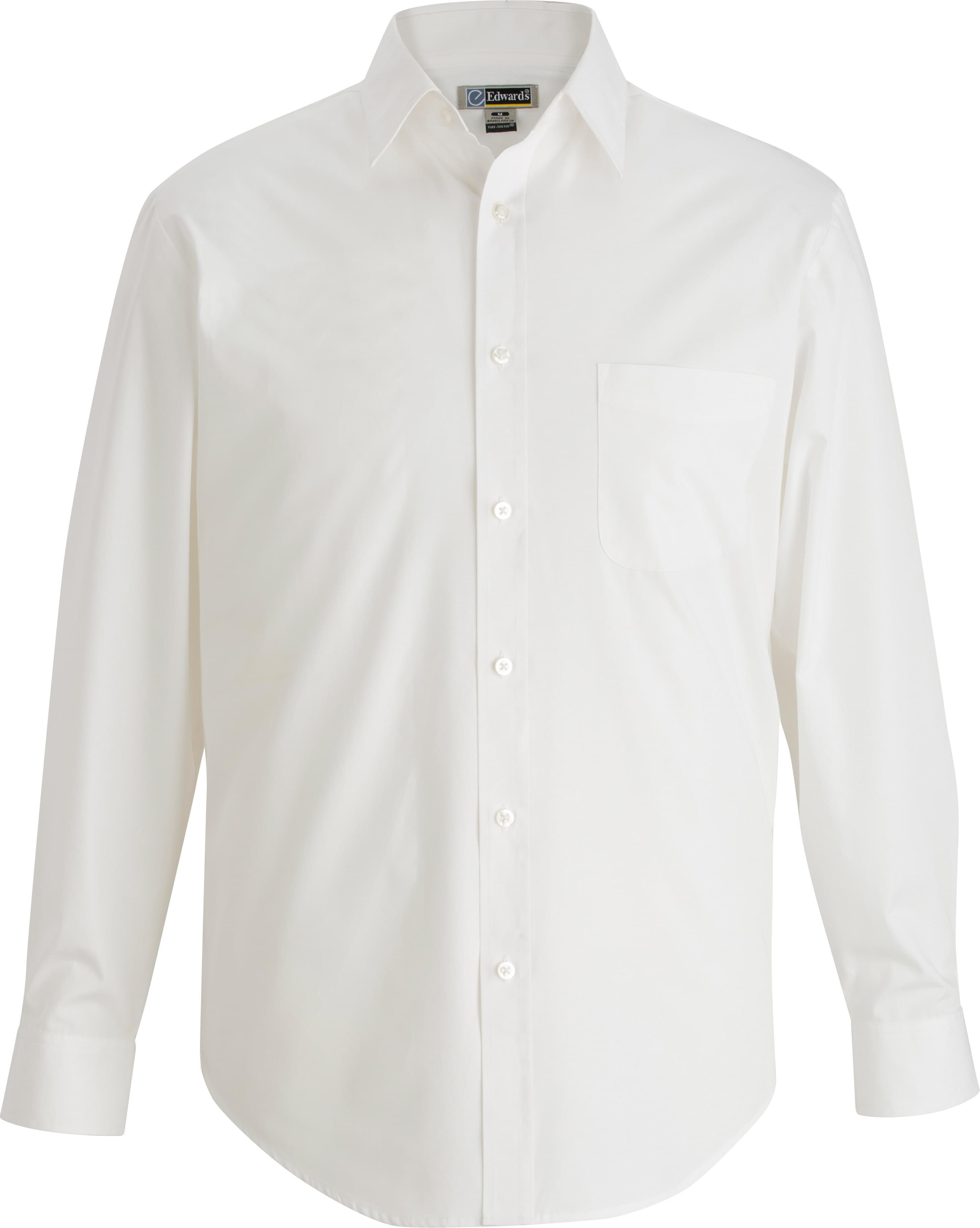 Mens Essential Broadcloth Shirt Long Sleeve 1354