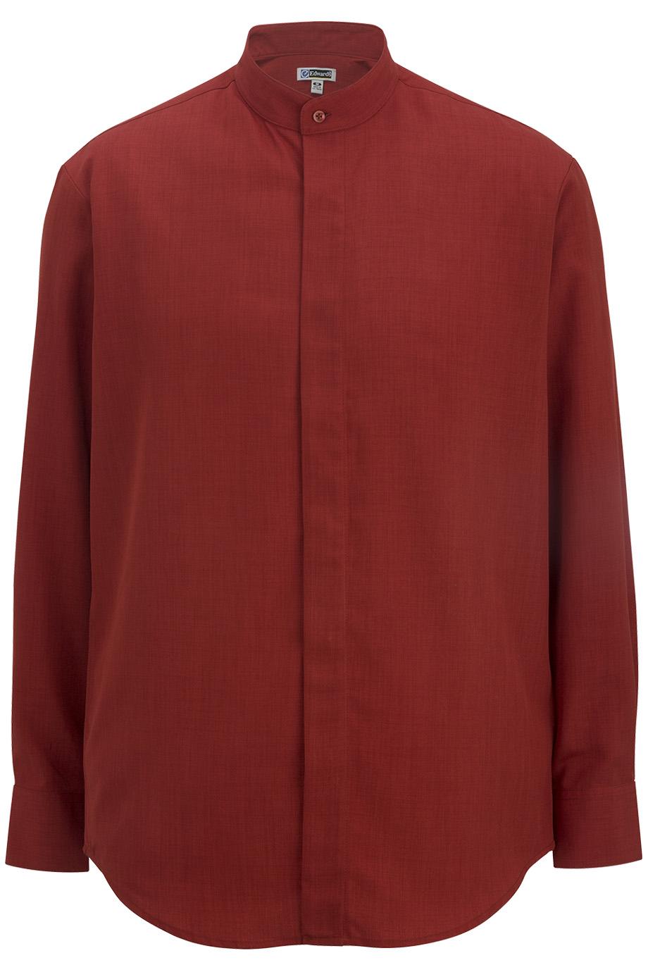 Men's Batiste Banded Collar Shirt 1392
