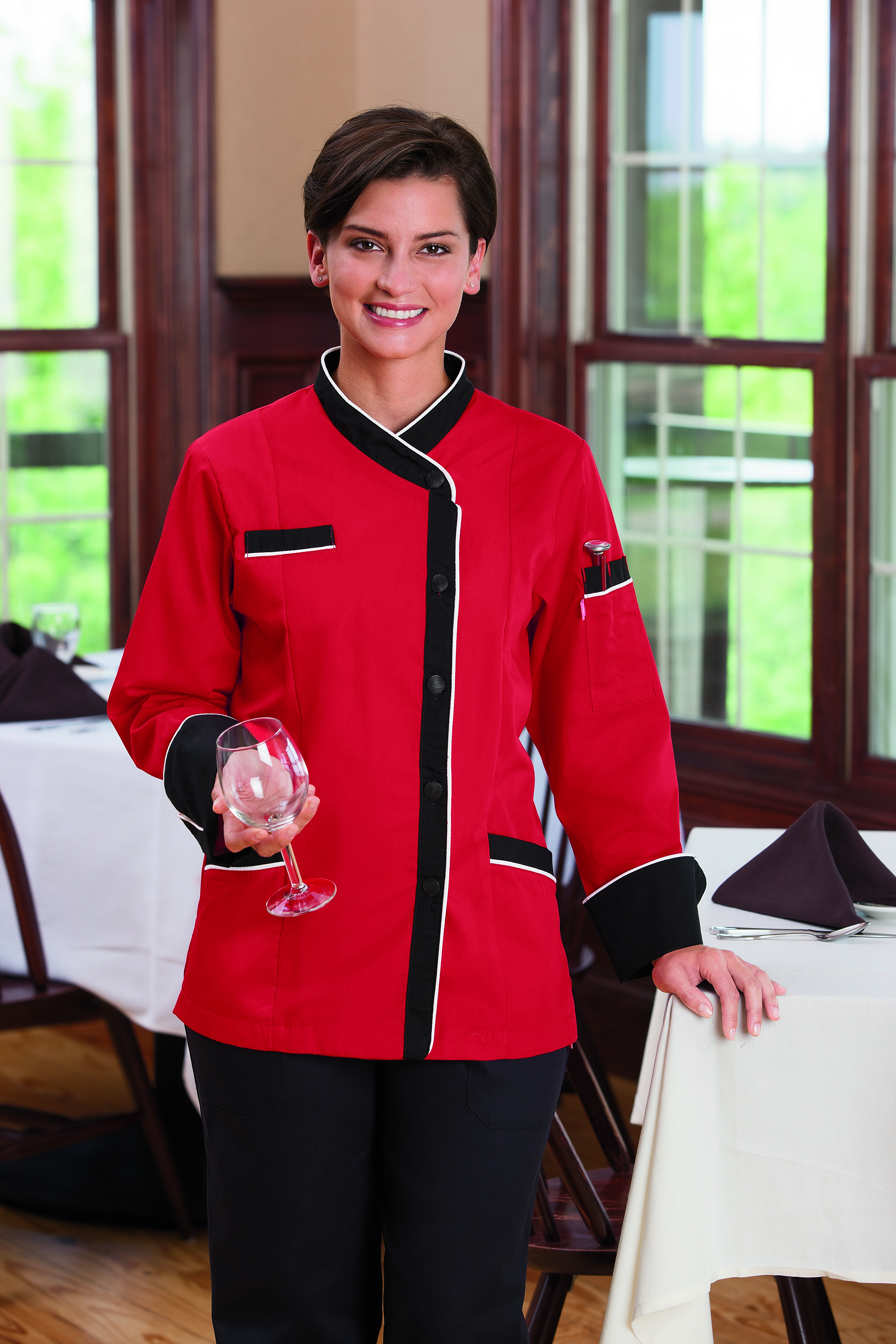 Five Star Ladies Long Sleeve Executive Coat with Moisture Wicking Mesh Back 18038