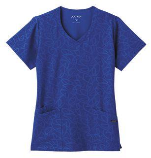 Jockey® Solid Illusion™ Ladies Teardrop Pattern Tonal V-Neck Top 2337