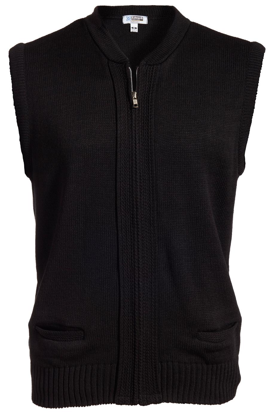 Full-Zip Heavyweight Acrylic Sweater Vest 302