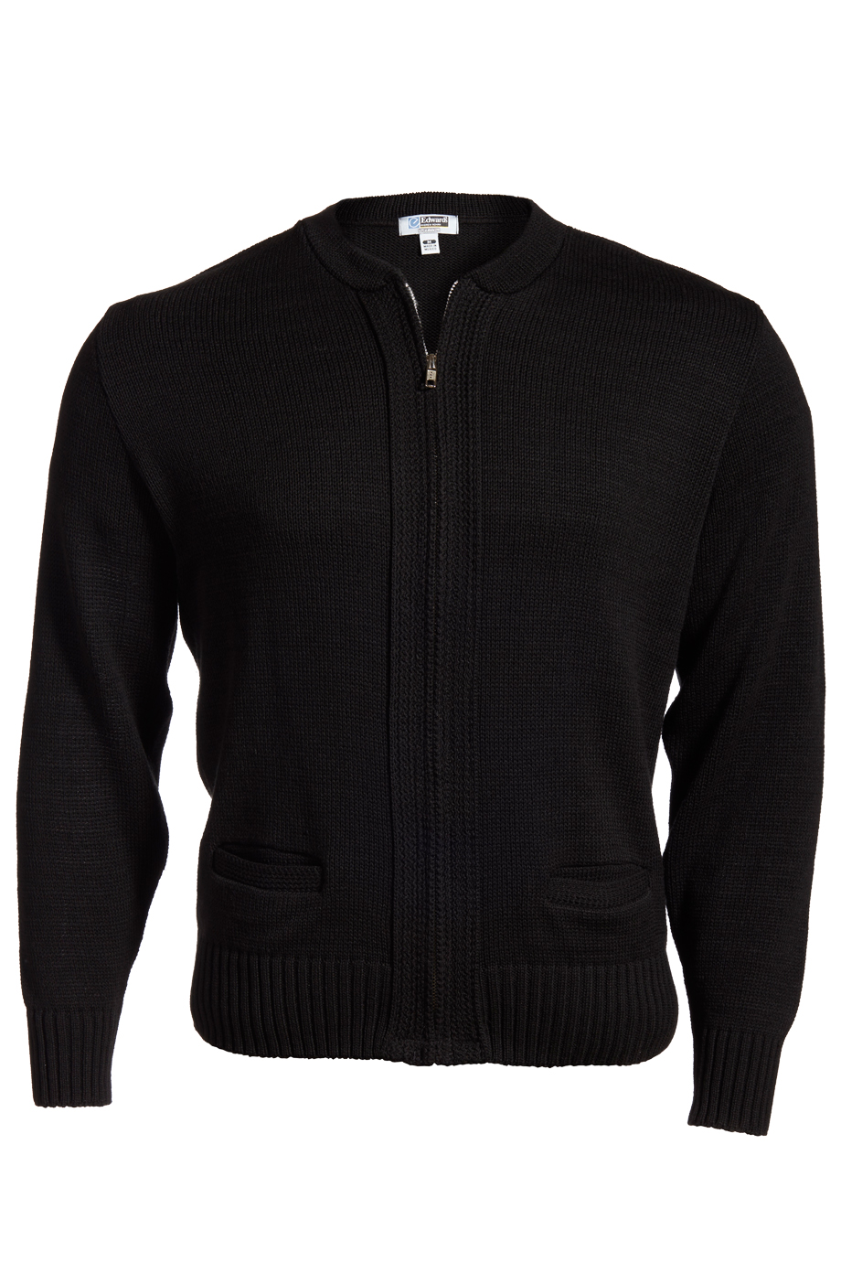 Full-Zip Heavyweight Acrylic Sweater 372