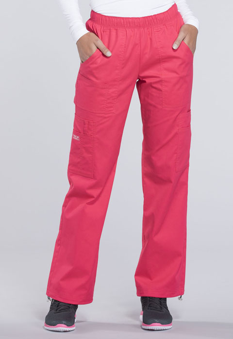 Cherokee Workwear Mid Rise Pull-On Pant Cargo Pant 4005P