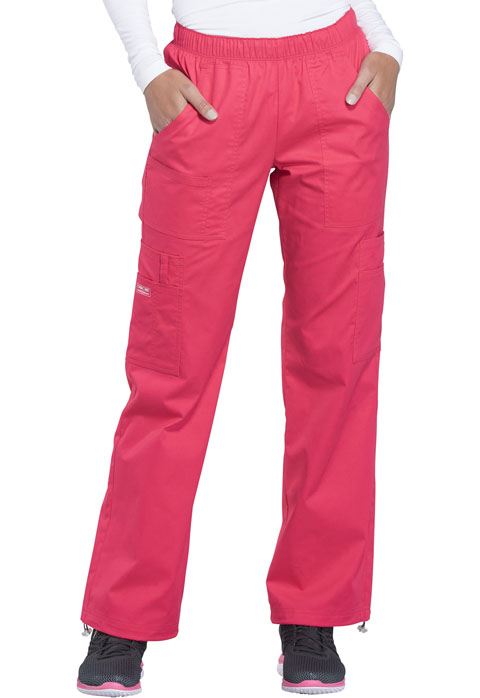 Cherokee Workwear Mid Rise Pull-On Pant Cargo Pant 4005