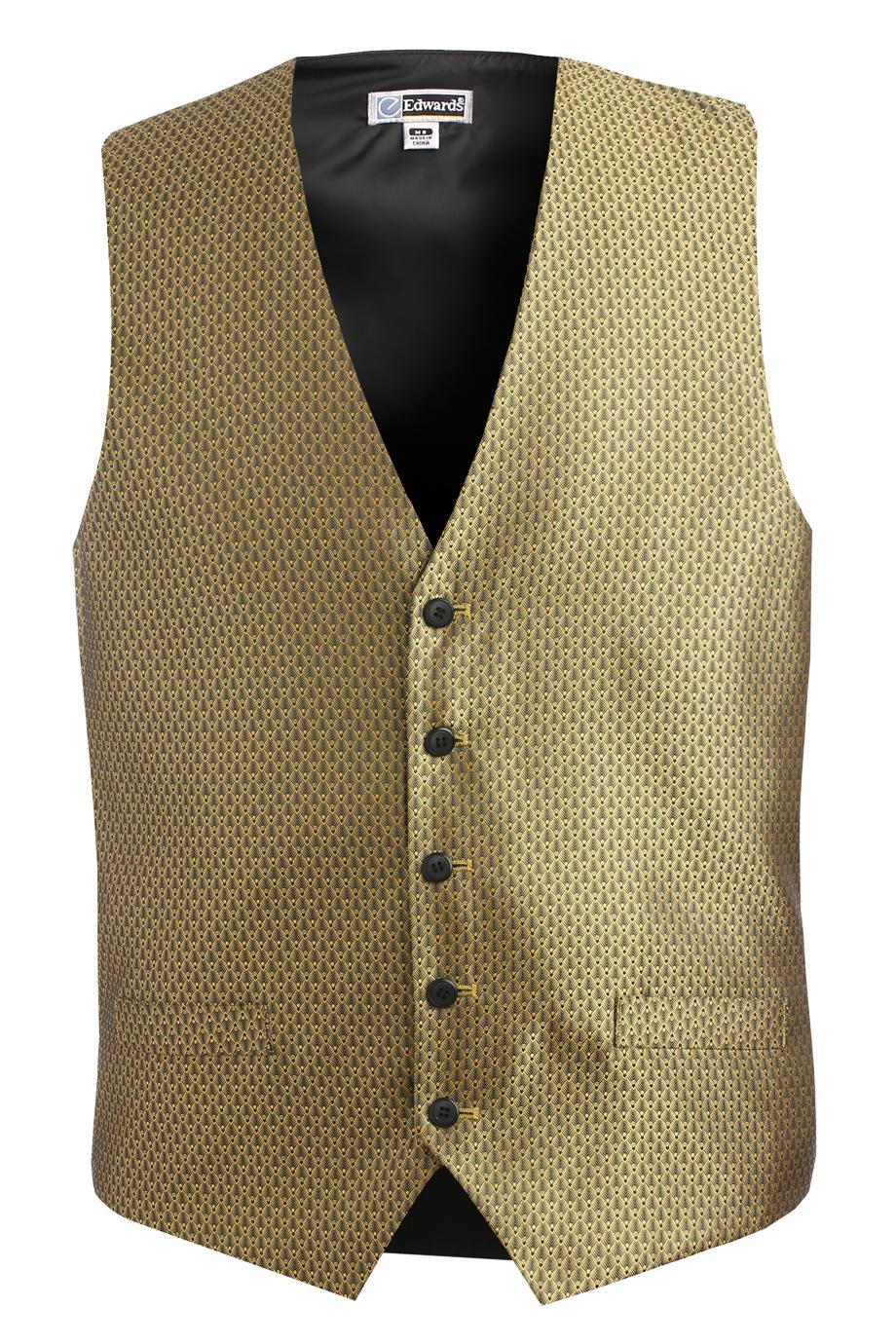 Men's Diamond Brocade Vest 4390