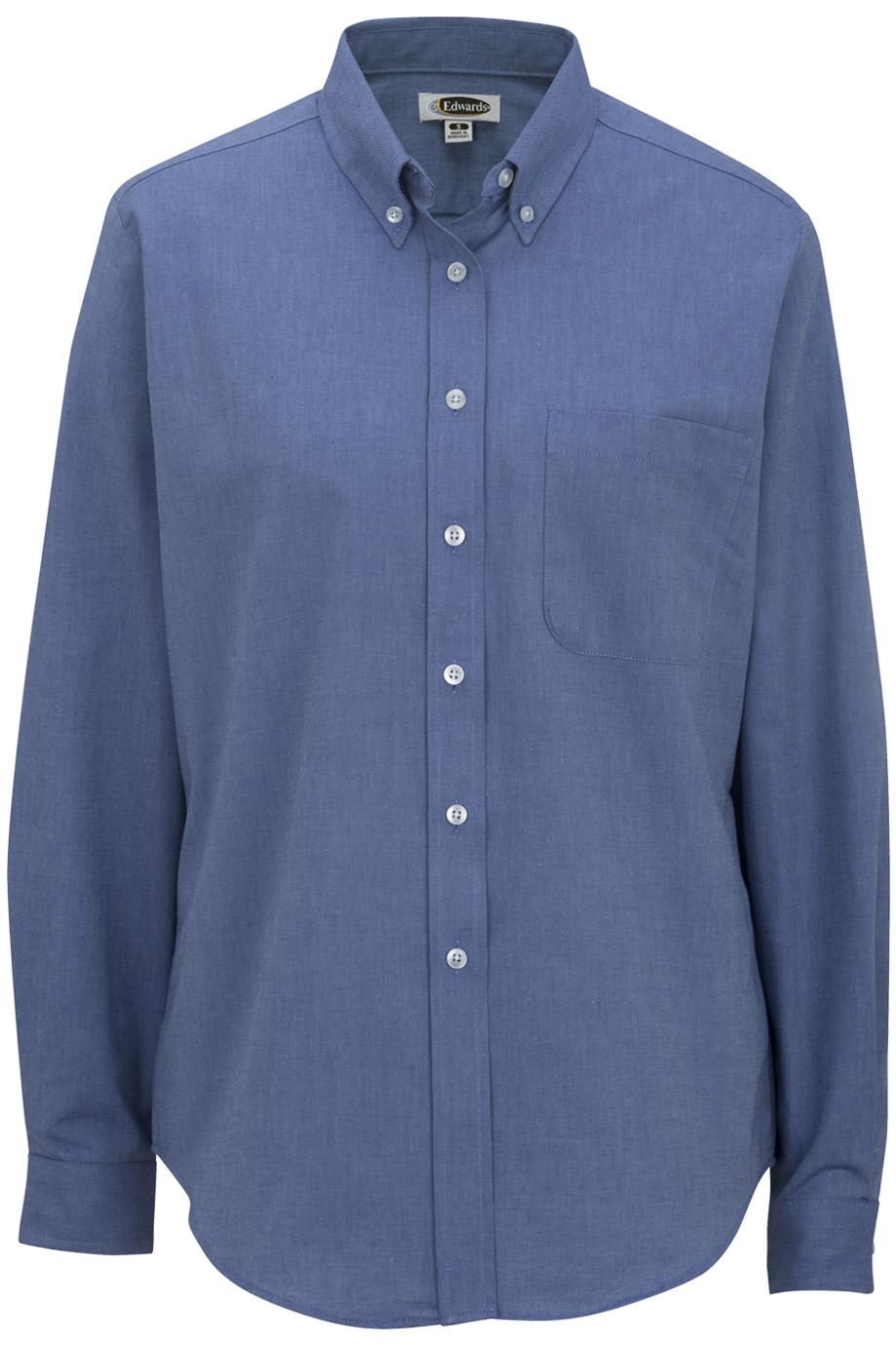 Ladies' Long Sleeve Oxford Shirt 5077