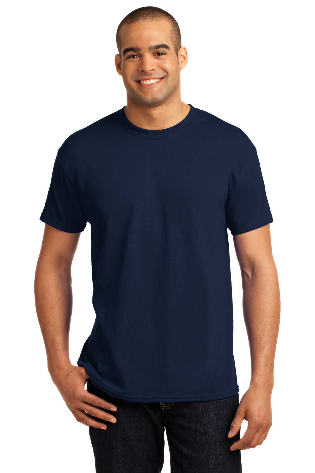 Hanes  - EcoSmart  50-50 Cotton-Poly T-Shirt. 5170