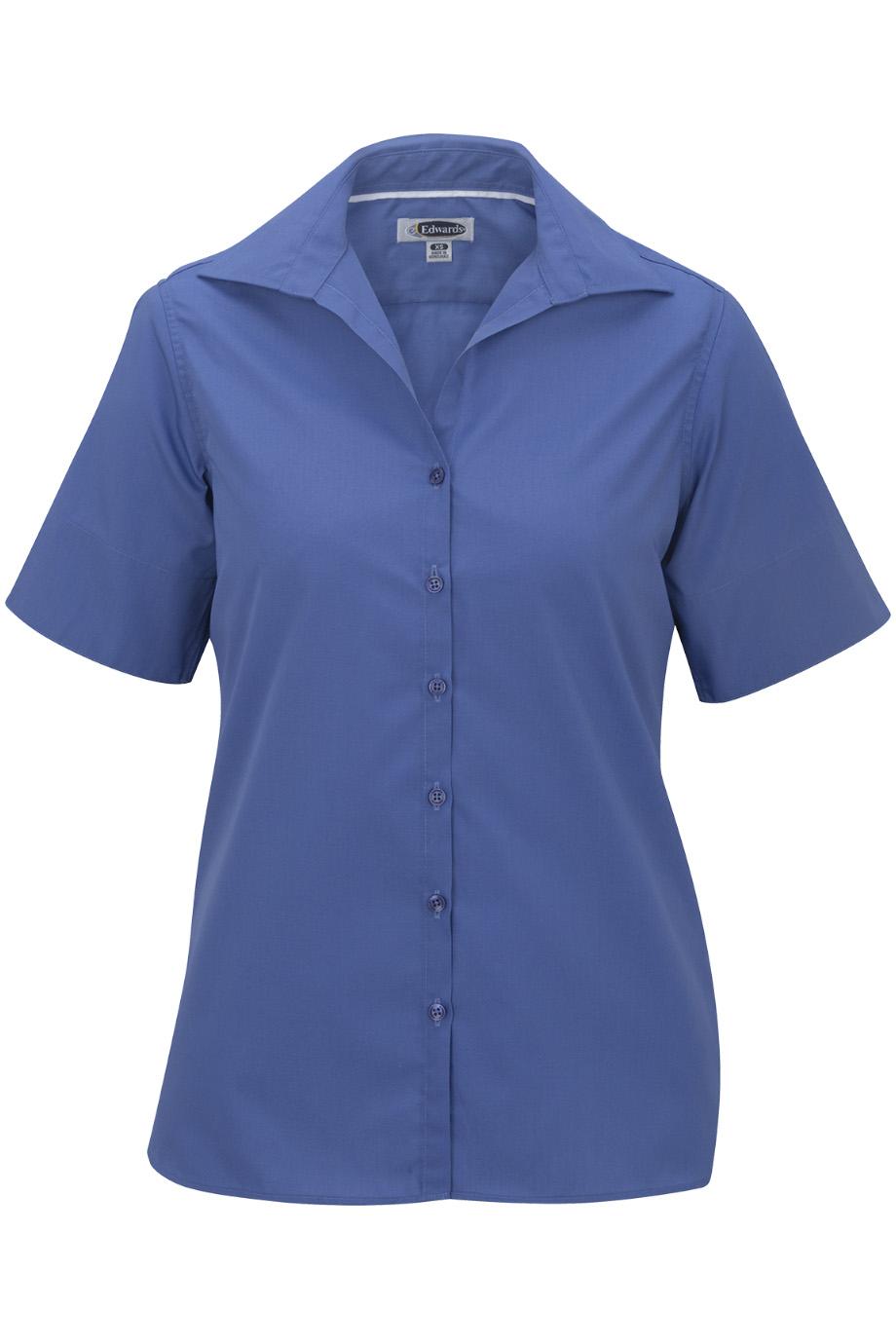 Ladies' Lightweight Short Sleeve Poplin Blouse 5245