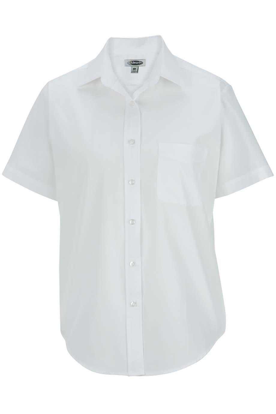 Women's Short Sleeve Value Broadcloth Shirt5313
