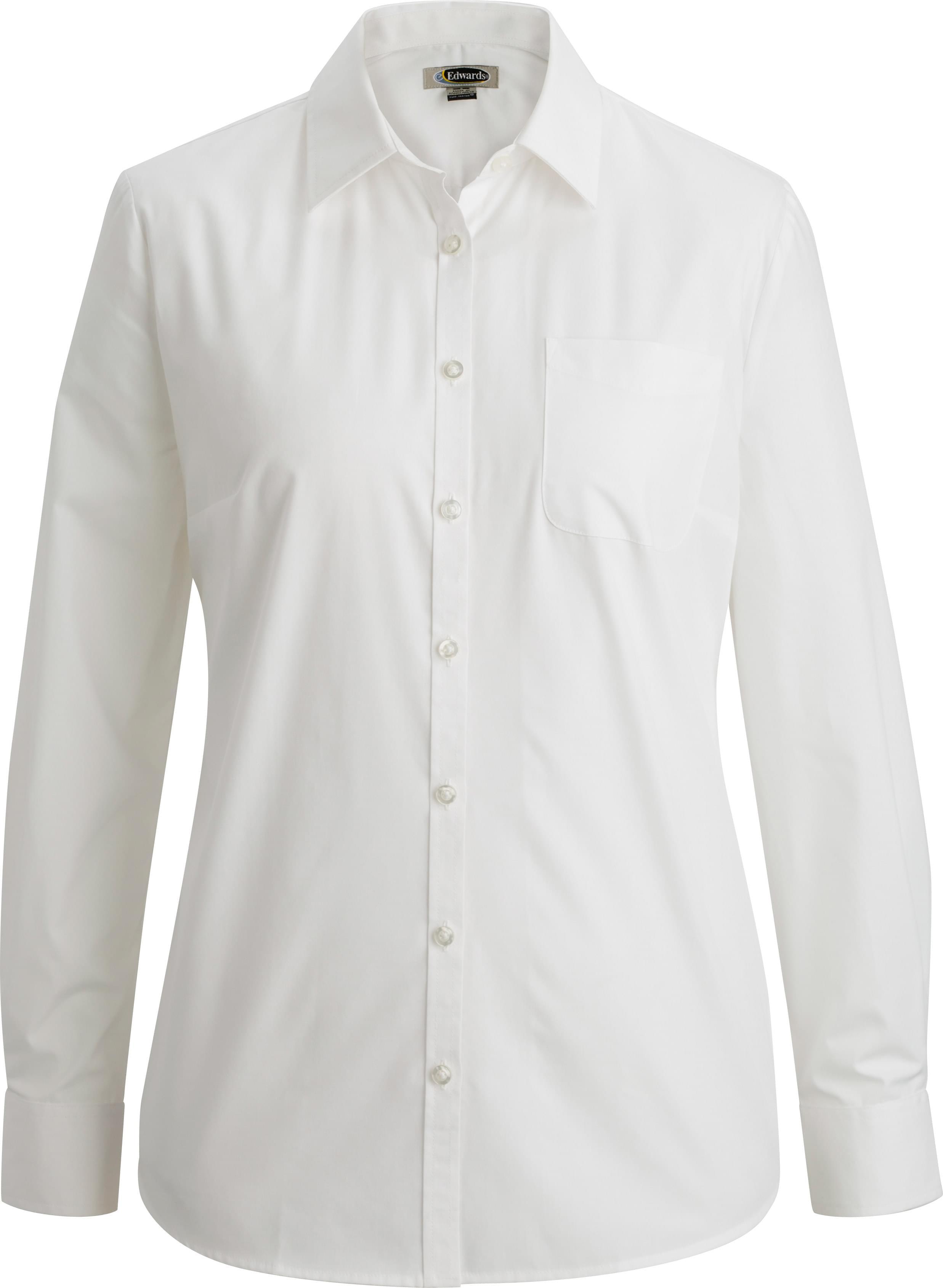 Ladies Essential Broadcloth Shirt Long Sleeve 5354