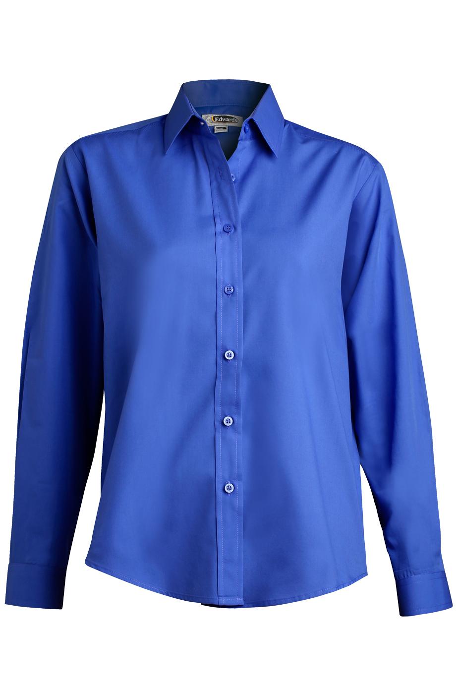 Women's Long Sleeve  Value Broadcloth Shirt5363