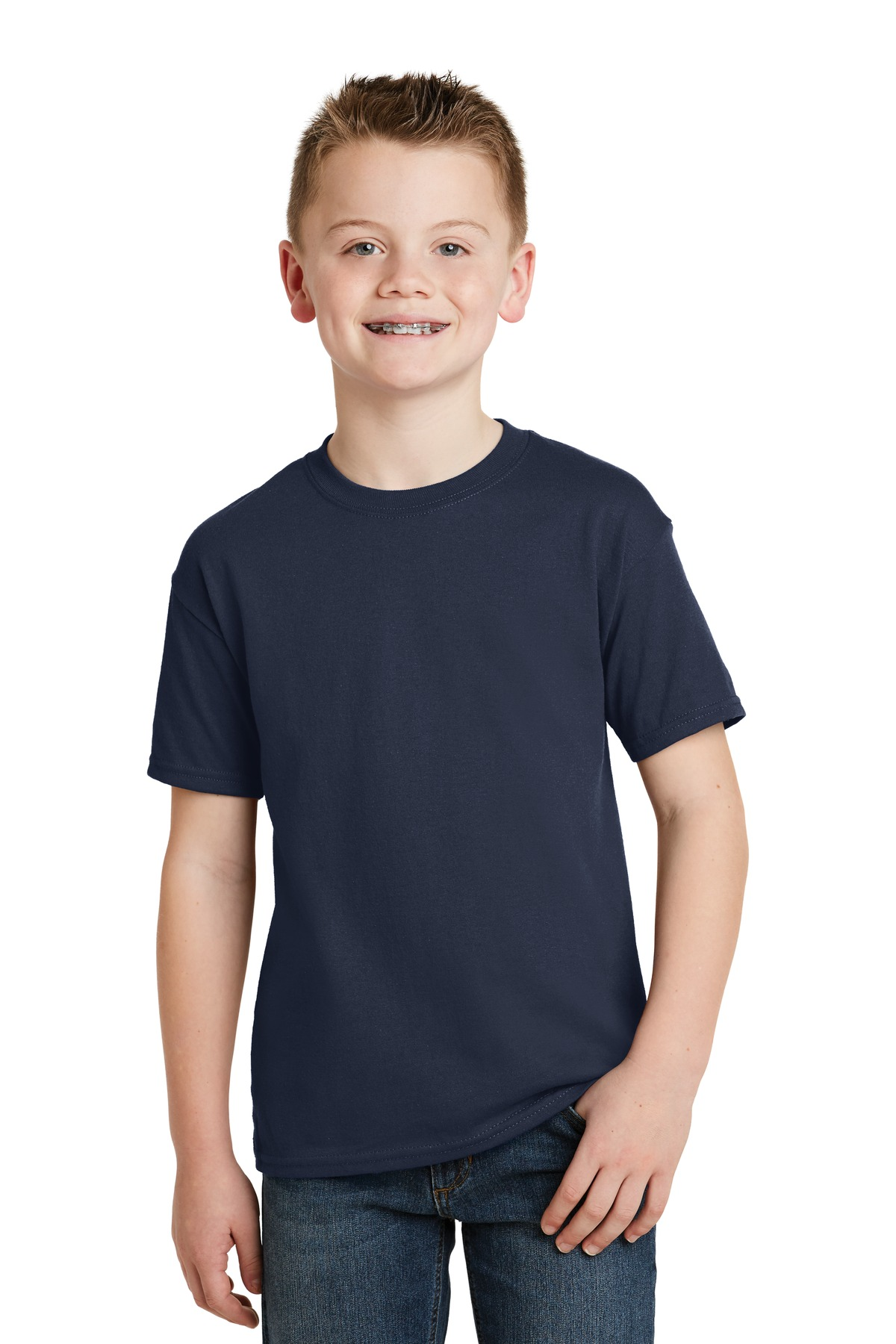 Hanes - Youth EcoSmart  50-50 Cotton-Poly T-Shirt. 5370