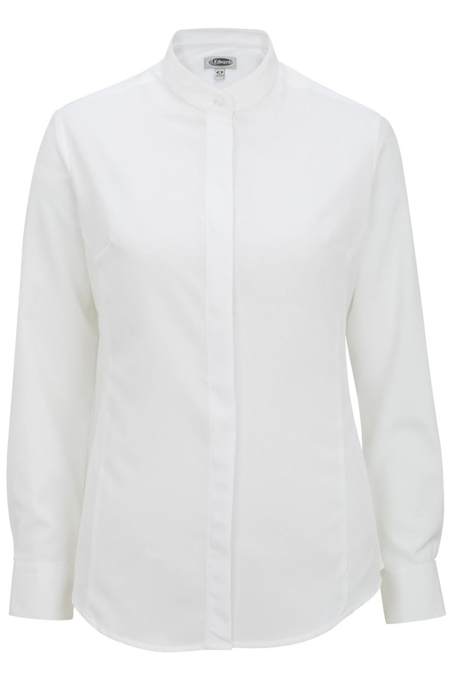 Emerson Uniforms Womens Batiste Banded Collar Shirt 5392