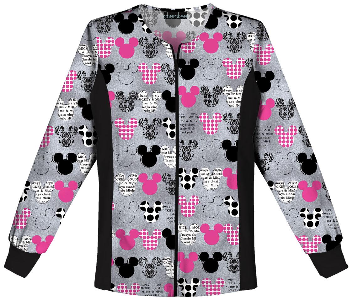 Tooniforms Zip Front Knit Panel Warm-Up Jacket 6315C