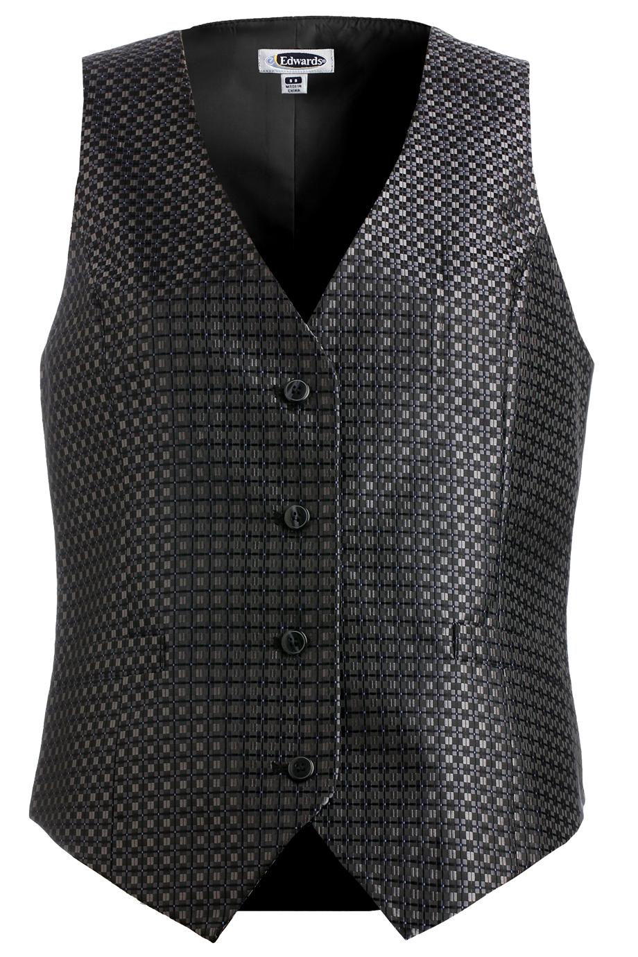 Ladies' Grid Brocade Vest 7396