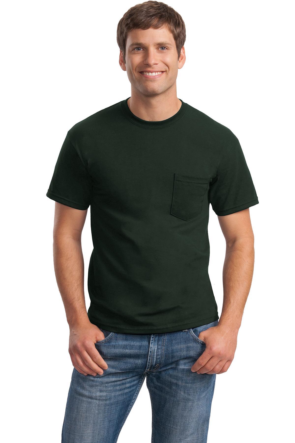 Gildan - DryBlend 50 Cotton 50 DryBlendPoly Pocket T-Shirt. 8300
