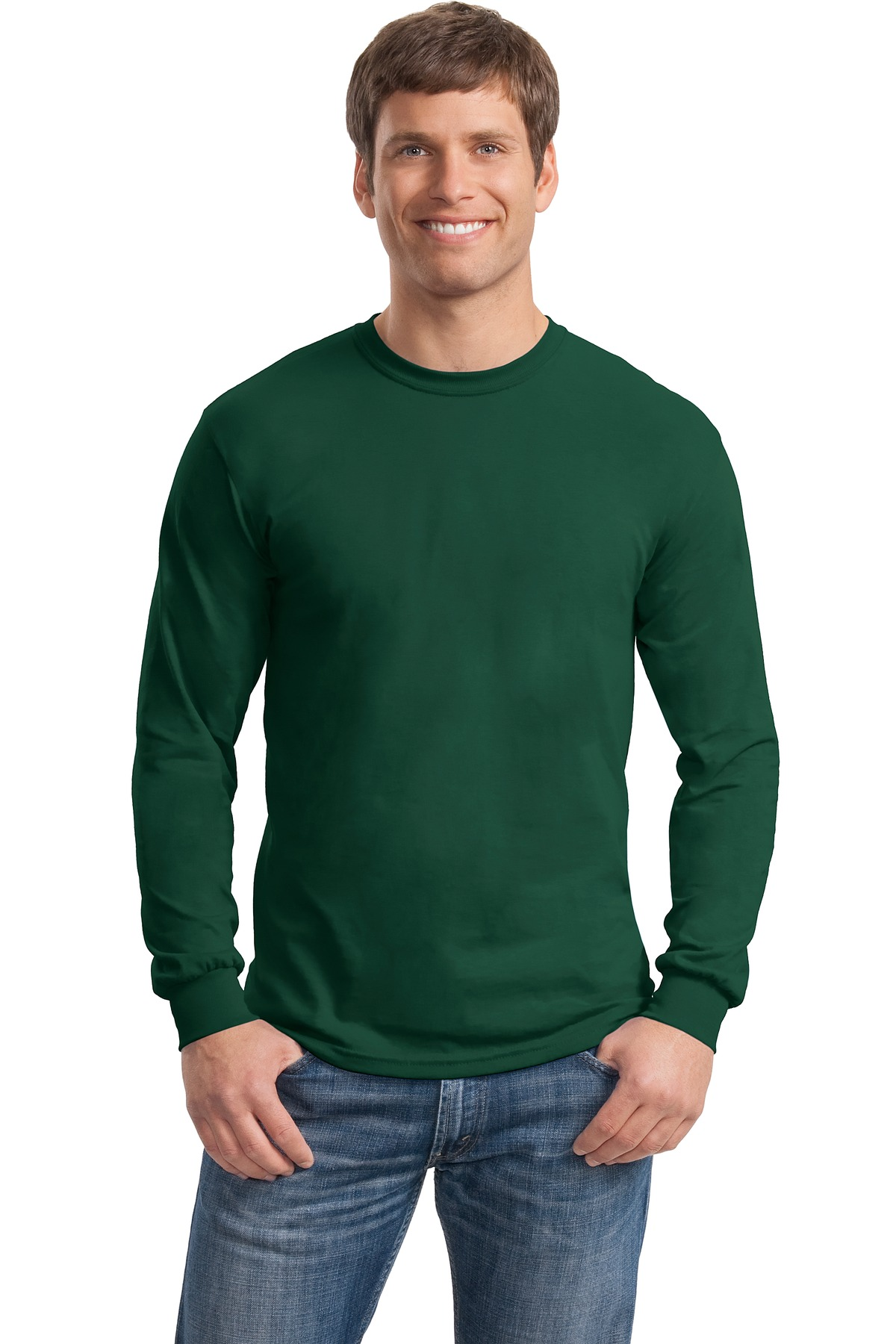 Gildan - DryBlend 50 Cotton, 50 DryBlend Poly Long Sleeve T-Shirt. 8400