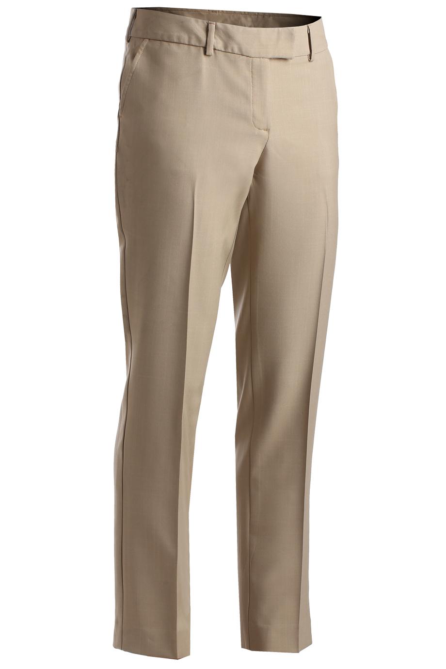 Ladies' Intaglio Flat Front Pant 8760
