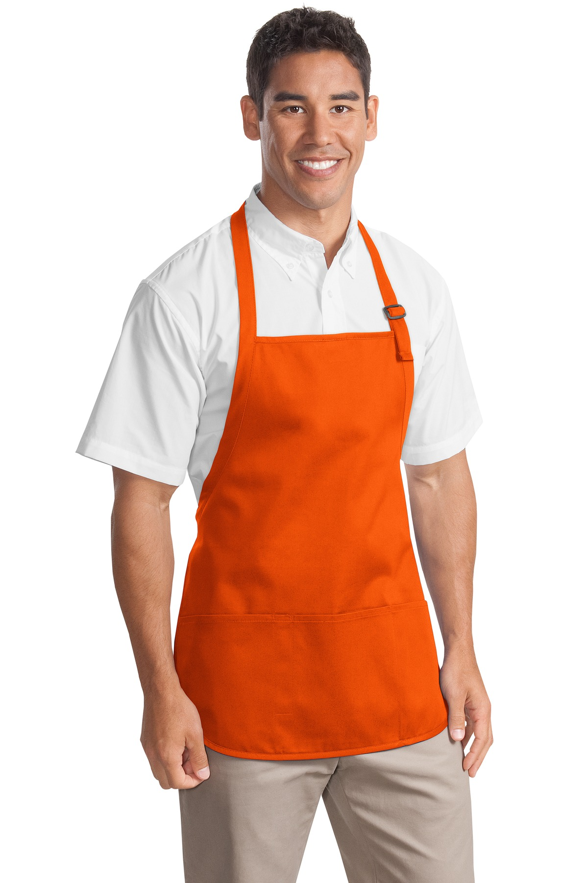 Port Authority - Medium Length Apron with Pouch Pockets. A510