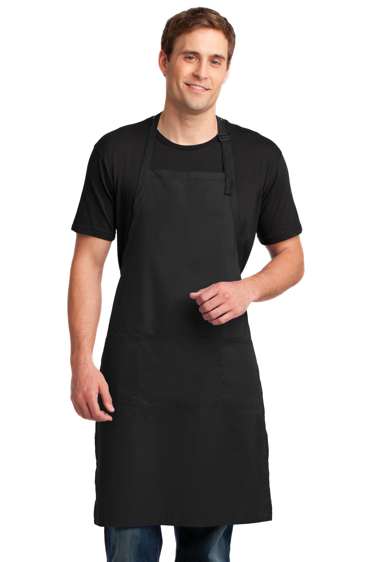Easy Care Extra Long Bib Apron with Stain Release. A700