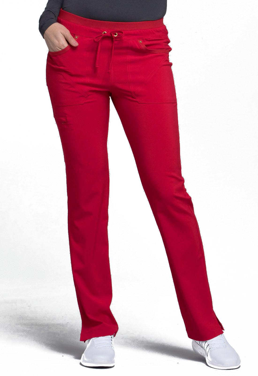 Mid Rise Tapered Leg Drawstring Pants CK010P