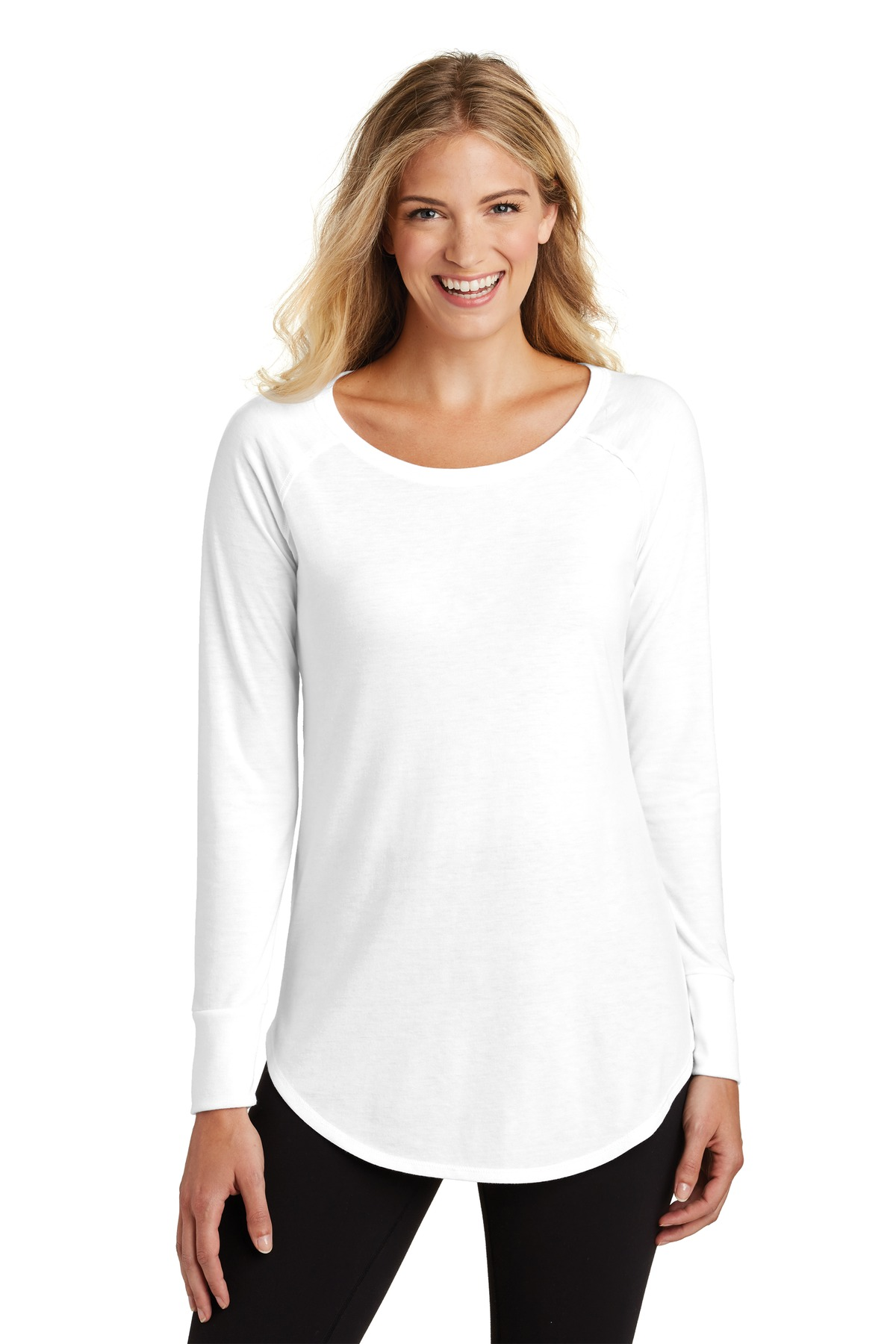 District Made  Ladies Perfect Tri  Long Sleeve . DT132L